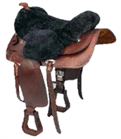 C.S.O. Real sheepskin Western seat cover